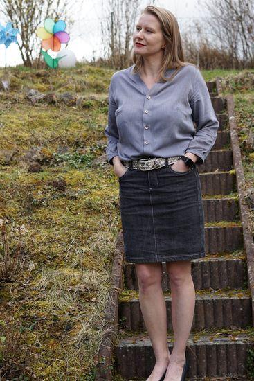 Produktfoto für Schnittmuster Bonn Bluse und Kleid von Itch to Stitch