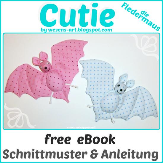 Produktfoto für Schnittmuster Cutie - die Fledermaus von Wesens-Art