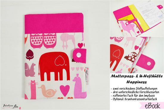 Produktfoto für Schnittmuster Mutterpass- und U-Hefthülle Happiness von Fräulein An