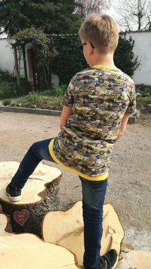 Produktfoto für Schnittmuster Shirt Simon von Engelinchen
