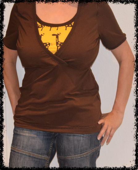 Mutti shirt braun giraffe