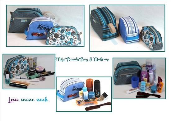 Foto zu Schnittmuster MiLa Beauty Bag & Make-up Bag von Lene mene muh
