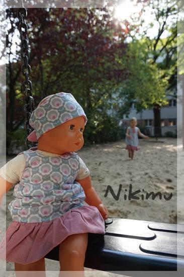 Foto zu Schnittmuster Puppen-Ballonkleid Neela von Meine Herzenswelt