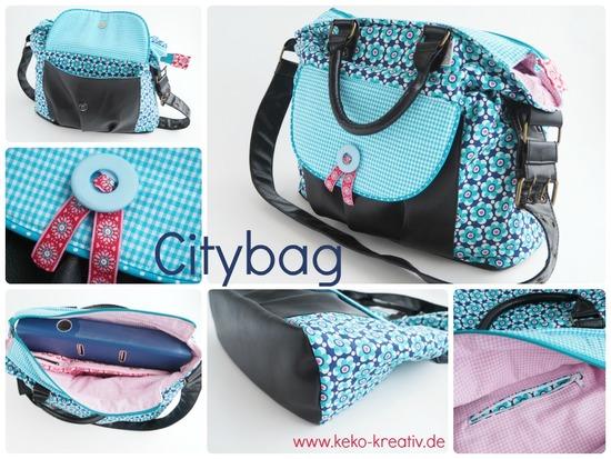 Foto zu Schnittmuster Tasche Citybag von Keko-Kreativ