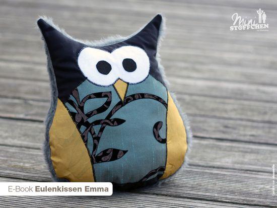 Produktfoto für Schnittmuster Eulenkissen Emma von Khanysha
