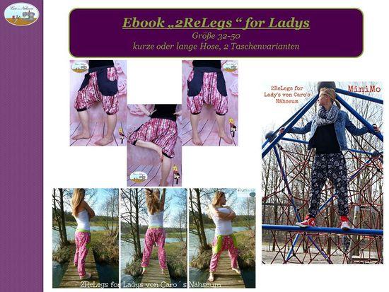 Produktfoto für Schnittmuster 2ReLegs for Ladys von Caro's Nähseum