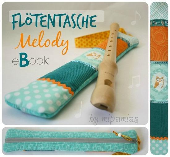 Produktfoto für Schnittmuster Flötentasche Melody von mipamias