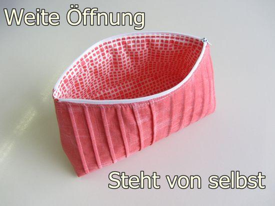 Produktfoto für Schnittmuster Falten-Kosmetiktasche von stoffbreite