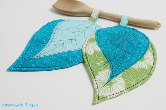 Foto zu Schnittmuster Topflappen Blätter von Kitschwerk