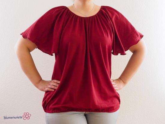 """Foto zu Schnittmuster """"Schwerelos"""" Shirt von textilsucht"""