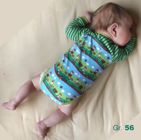 Produktfoto für Schnittmuster Raglan-Baby-Body Smartie von Muhküfchen Design