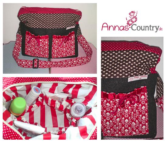 Schnittmuster Wickeltasche oder Umhänge-Tasche von Annas Country