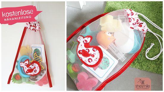 Produktfoto für Schnittmuster Badespielzeug-Tasche aus Tüll von shesmile