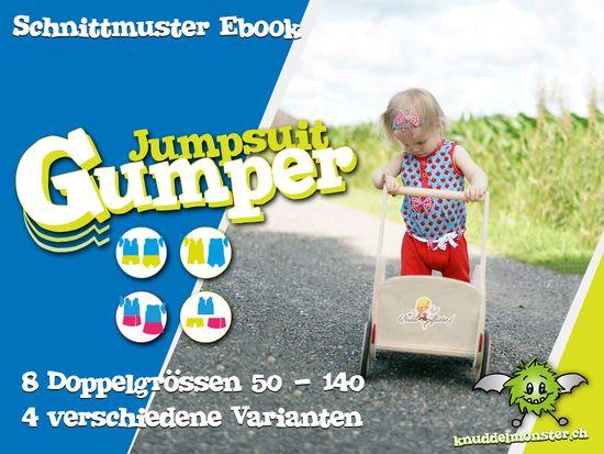 Schnittmuster Jumpsuit Gumper von Knuddelmonster als e-book für Babies, Jungen, Mädchen in Kategorie Sonstiges (50–140)