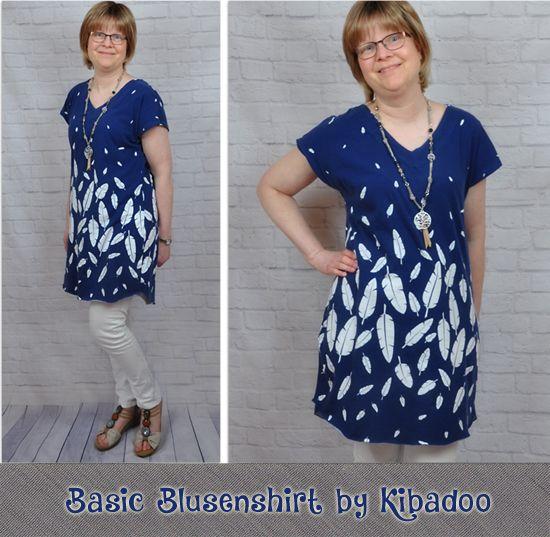 Produktfoto für Schnittmuster Basic Blusen-Shirt Damen von ki-ba-doo