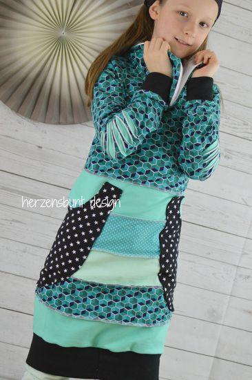 Produktfoto für Schnittmuster Farbklex - Das Pullikleid von Herzensbunt Design