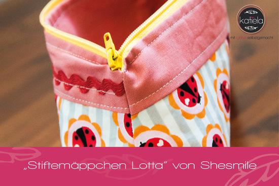 """Produktfoto für Schnittmuster Stiftemäppchen """"Lotta"""" von shesmile"""