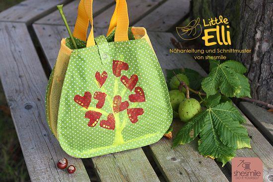 """Produktfoto für Schnittmuster Tasche """"Little Elli"""" von shesmile"""