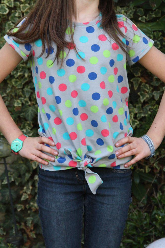Foto zu Schnittmuster Knotenshirt Jolly für Kinder von kullaloo