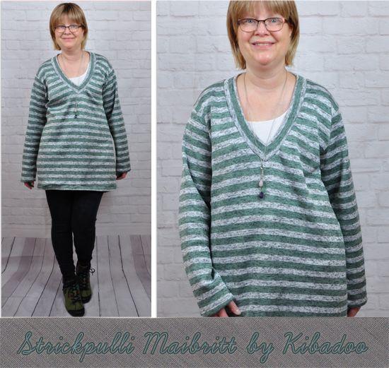 Produktfoto für Schnittmuster V-Pullover Maibritt von ki-ba-doo