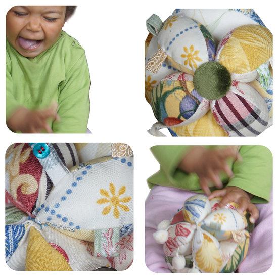 Produktfoto für Schnittmuster Baby Greifball von Frau Scheiner
