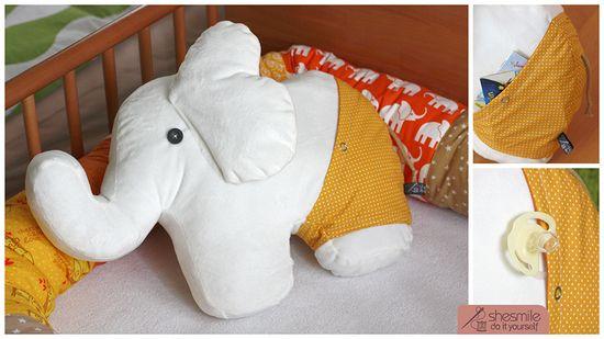 Elefant nelefant kuschelkissen