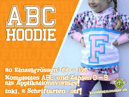 Produktfoto für Schnittmuster ABC Hoodie von Knuddelmonster