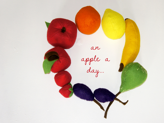 Produktfoto für Schnittmuster Filz-Obst zum Spielen und Dekorieren von Frau Scheiner