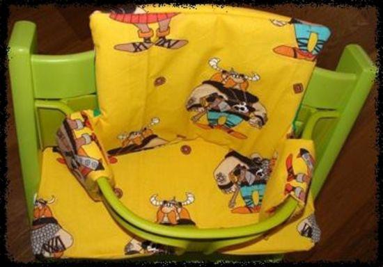 Produktfoto für Schnittmuster Sitzkissen und Rückenkissen für einen Kinderhochstuhl von Ruellis Welt