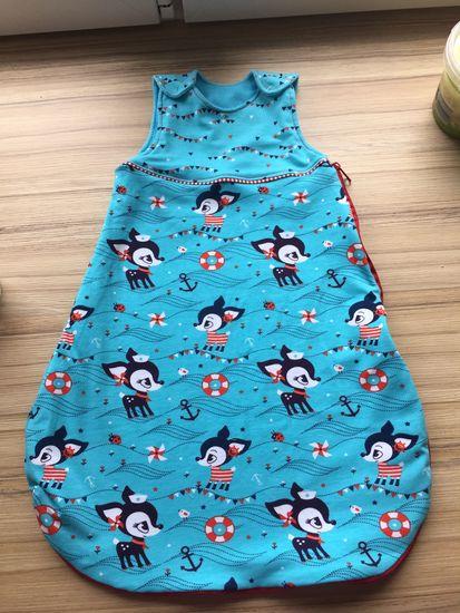 Kostenloses Schnittmuster Schlafsack für Babys und Kleinkinder von