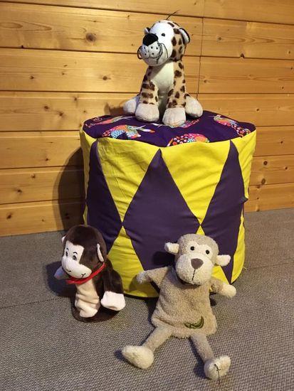 Produktfoto für Schnittmuster Zirkuskissen in zwei Größen von Frau Scheiner