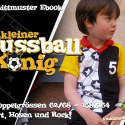 Foto zu Schnittmuster Kleiner Fussballkönig von Knuddelmonster