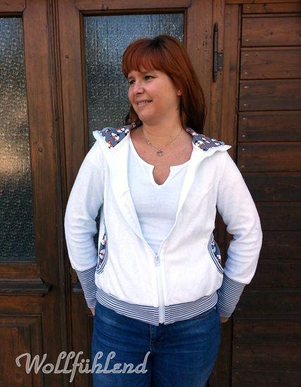 Foto zu Schnittmuster SWEAT.jacke mit Ärmelflicken von Leni Pepunkt