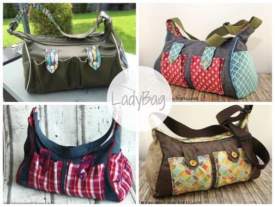 Produktfoto für Schnittmuster LadyBag von Keko-Kreativ