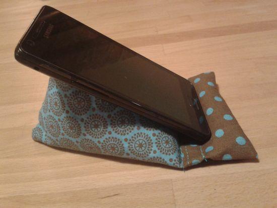 Kostenloses Schnittmuster Sitzsack für Smartphone von Creat.ING (dh)