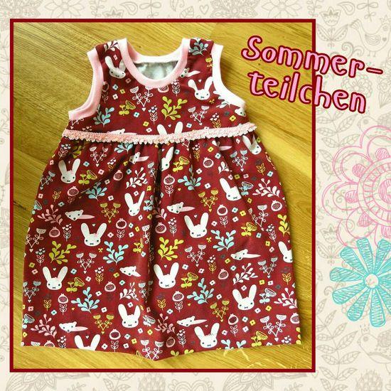Produktfoto für Schnittmuster Bodykleid Sommerteilchen von lila wie liebe