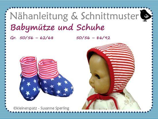 Foto zu Schnittmuster Babyset Mütz und Schuh von kleinerspatz