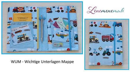 Kostenloses Schnittmuster WUM Wichtige Unterlagen Mappe von Lene mene muh als e-book in Kategorie Sonstiges