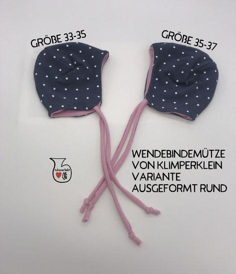 Produktfoto für Schnittmuster Wendebindemütze von klimperklein