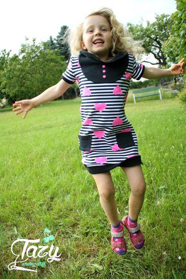 """Schnittmuster Kleid & Shirt """"Mini-Mathilda"""" von kreativlabor Berlin als e-book, DIN A0-Datei für Mädchen in den Kategorien Kleid, Oberteil (92–164)"""