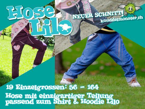 Produktfoto für Schnittmuster Hose Lilo von Knuddelmonster