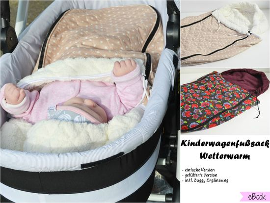 Produktfoto für Schnittmuster Kinderwagenfußsack Wetterwarm von Fräulein An
