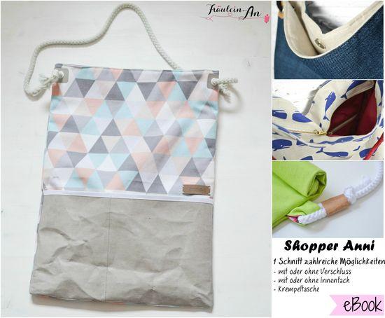 Produktfoto für Schnittmuster Shopper Anni von Fräulein An