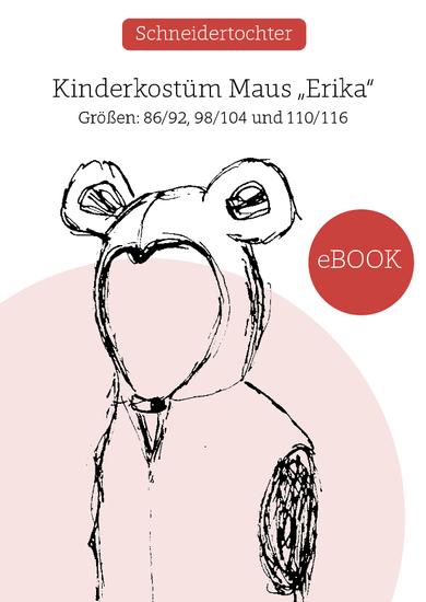 """Produktfoto für Schnittmuster Kinderkostüm Maus """"Erika"""" von Schneidertochter"""