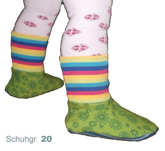 """Produktfoto für Schnittmuster Baby/Kinder-Füßlinge """"Strampelfüßchen"""" von Muhküfchen Design"""