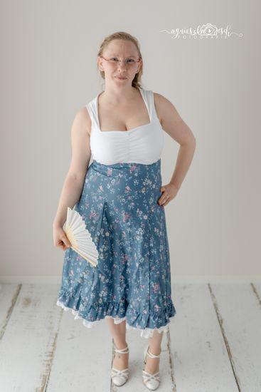 Foto für Schnittmuster High-Waist-Rock/Kleid Lucie von Bunte Nähigkeiten