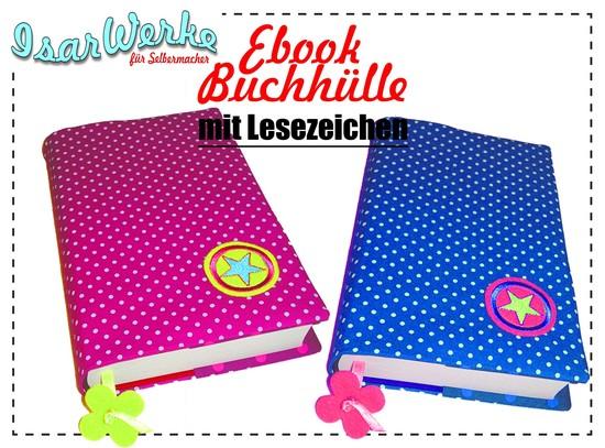 Foto zu Schnittmuster Buchhülle mit Lesezeichen von IsarWerke