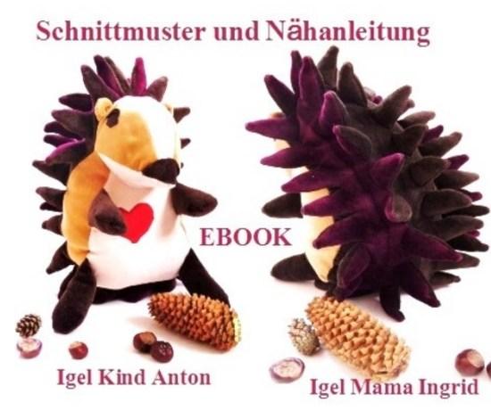 Foto zu Schnittmuster Kuschel Igel von Pflaumenwurst
