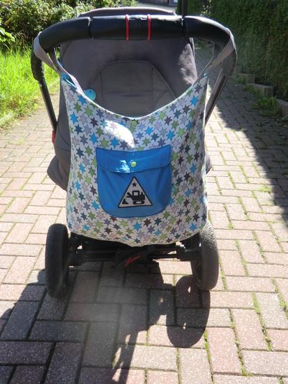 Foto zu Schnittmuster Kinderwagentasche von Haus mit dem Rosensofa