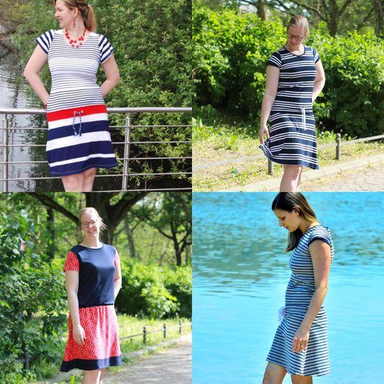 Produktfoto für Schnittmuster Meer Mama Kleid von Berlinerie